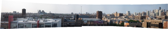 Rooftop panorama, West Side, Chicago (Credit: Celia Place)
