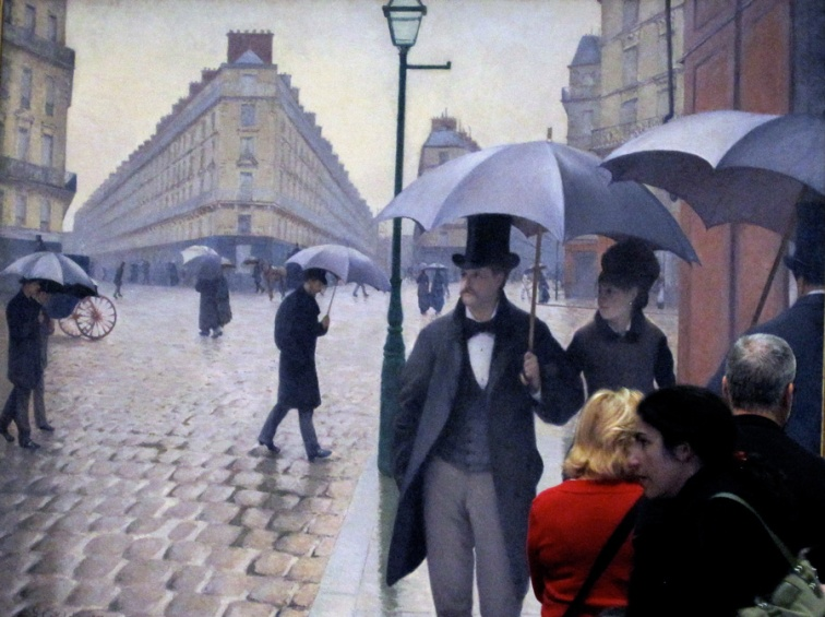 On a Paris street with Caillebotte (Credit: Celia Her City)