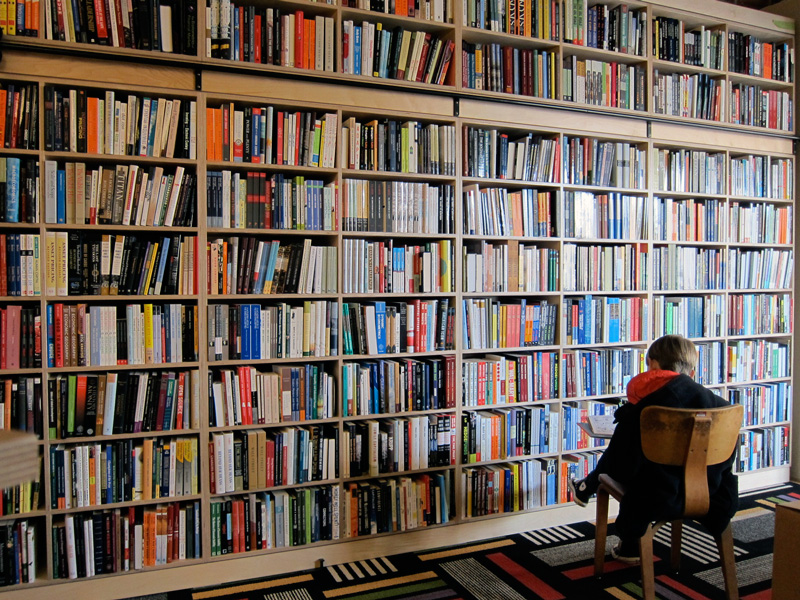 The wall of books