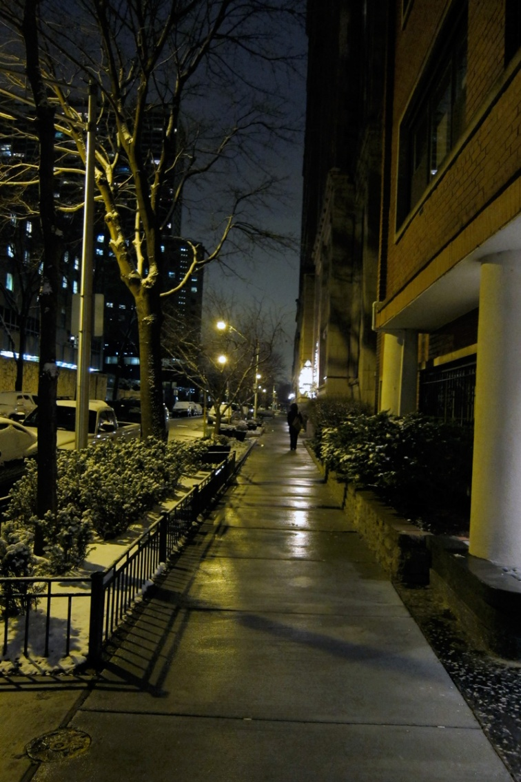 photograph of an ordinary street at night (Credit: Celia Her City)