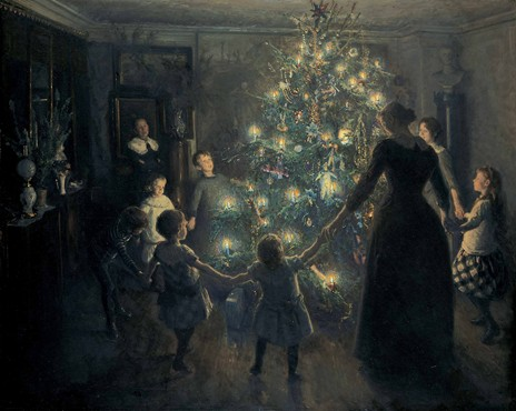 "Viggo Johansen's 1891 ""Glade jul"" (Silent Night), from the Hirschsprungske Samling in Copenhagen, Denmark."