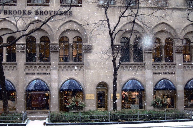 The Brooks Brothers store on Michigan Avenue, Chicago (Credit: Celia Her City)