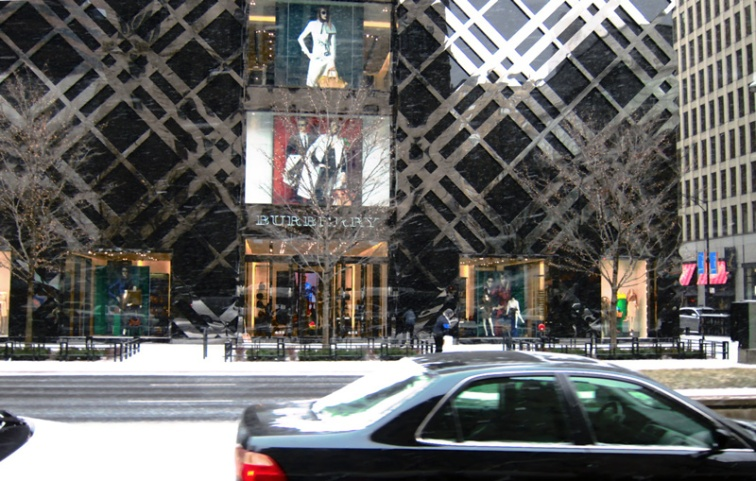 The new Burberry store, Chicago (Credit: Celia Her City)
