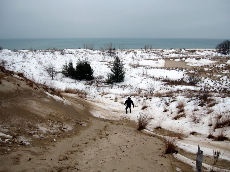 Winter blowout, Warren Dunes, Michigan, © 2013 Celia Her City.