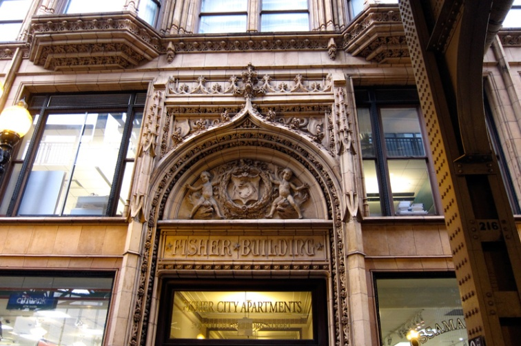 Ornamented Arch and Lintel, Fisher Building, Chicago, © 2013 Celia Her City