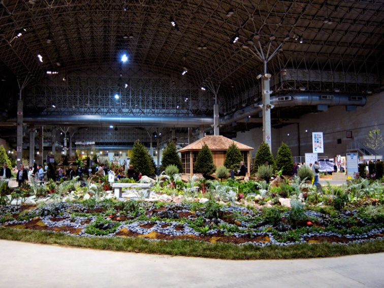 The setting of the Garden Show, Navy Pier's Festival Hall, © 2013 Celia Her City