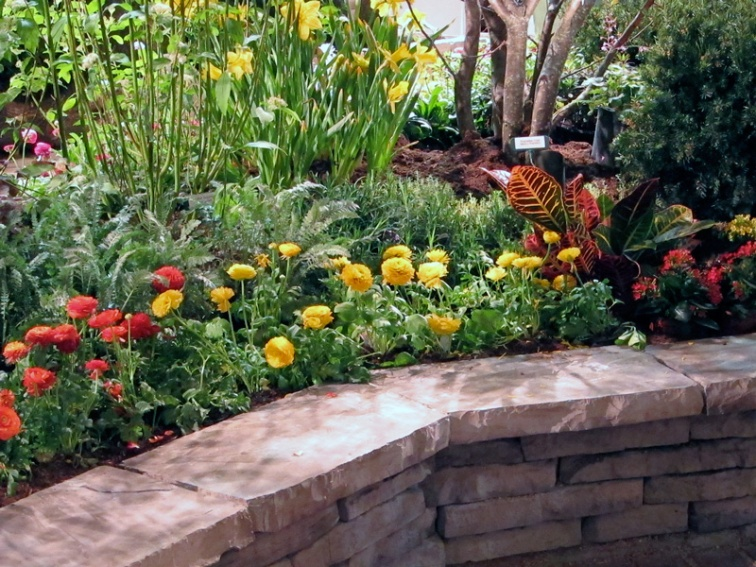 A planted terrace at the Chicago Flower and Garden Show, © 2013 Celia Her City