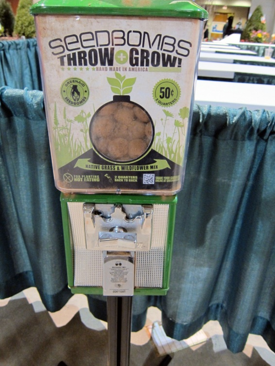 Throw and Grow dispenser of seedbombs, © 2013 Celia Her City