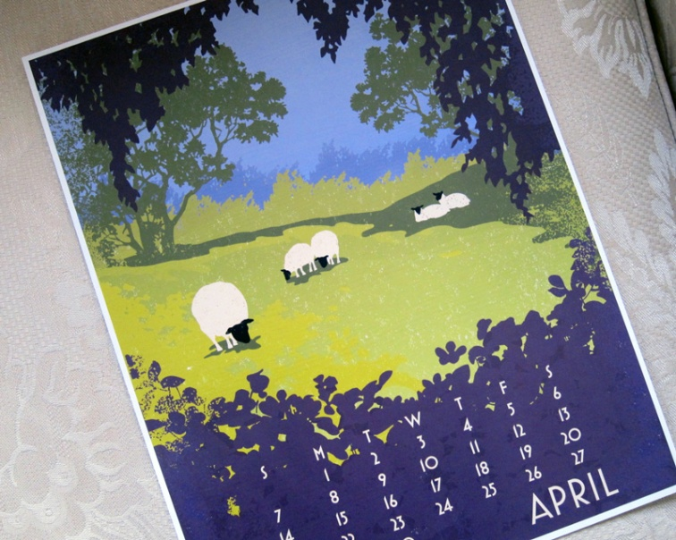 2013 Linnea Graphic Art Calendar (April)