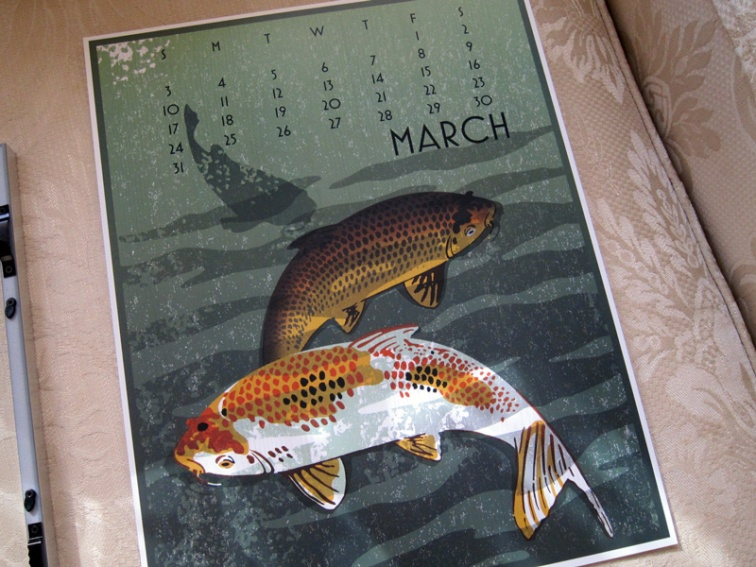 2013 Linnea Graphic Wall Calendar (March)