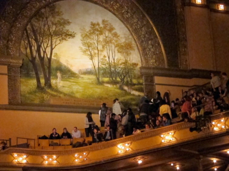 The 'spring' mural inside Chicago's Auditorium Theatre, © 2013 Celia Her City