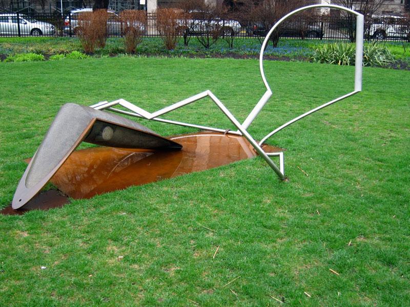 """Stone wobble"" by Derick Malkemus, in Chicago's Lincoln Park (photo © 2013 Celia Her City)"
