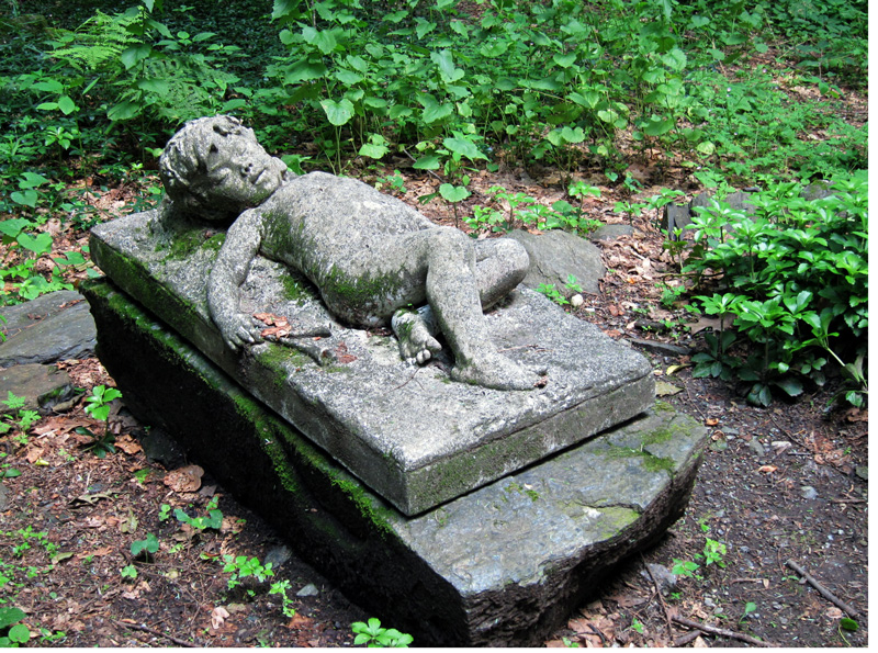 A reminder of one lost (funerary sculpture on the grounds of Chesterwood, Stockbridge MA), © 2013 Celia Her City