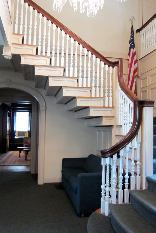Staircase in the Buttrick Mansion (now the Old North Bridge Visitors' Center), Concord, MA © 2013 Celia Her City