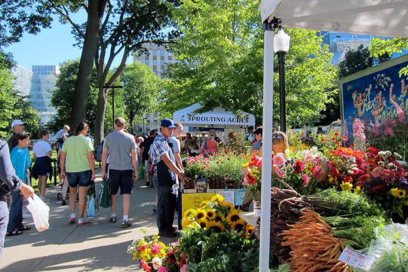 Strolling the farmers' market in Madison, © 2013 Celia Her City
