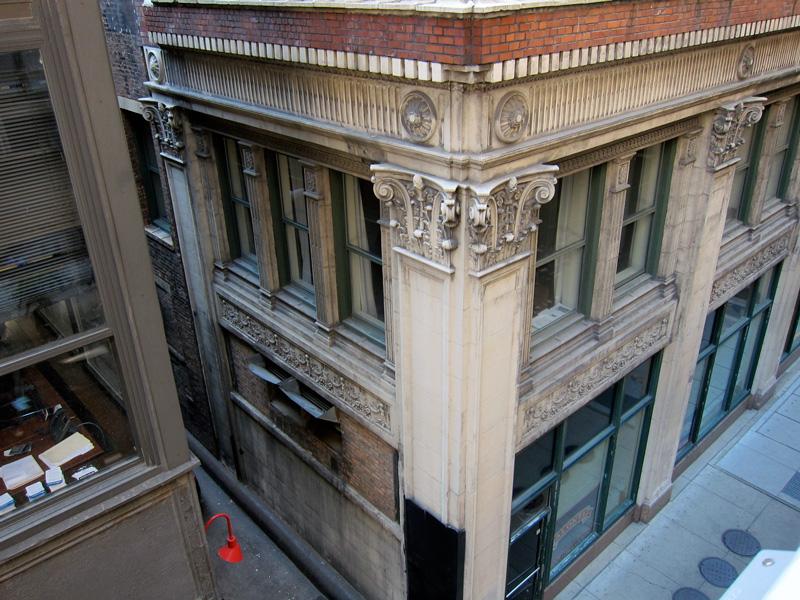 Northeast corner of the LaSalle Atrium Building, © 2013 Celia Her City