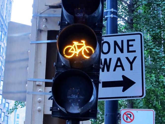 Bike-specific stoplight, © 2013 Celia Her City